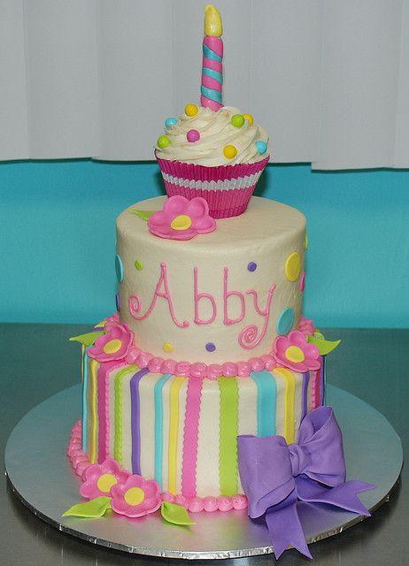 Cute girls birthday cake.