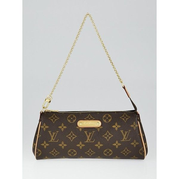 Pre-owned Louis Vuitton Monogram Canvas Eva Clutch Bag ($625) ❤ liked on Polyvore featuring bags, handbags, clutches, canvas purse, monogrammed handbags, chain strap purse, monogrammed wristlet and wristlet clutches