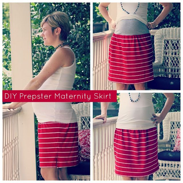 DIY Prepster Maternity Skirt Tutorial