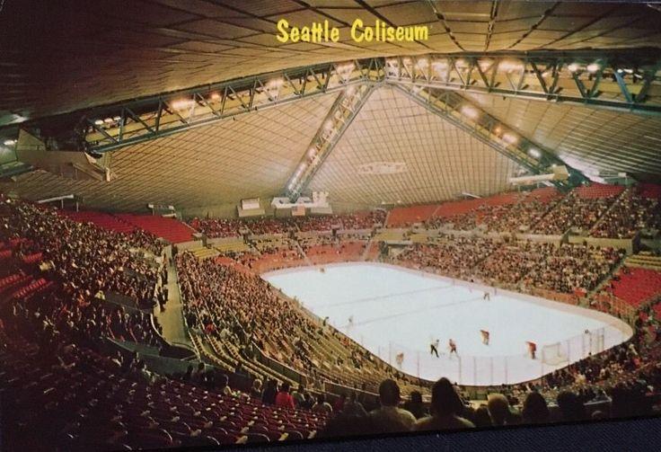 Seattle Center Coliseum Vintage Post Card Seattle Totems ...