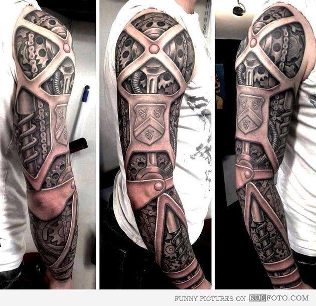 steampunk sleeve tattoo well done cooooooolll