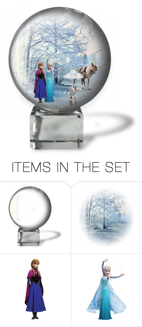 """""""Frozen Snow Globes"""" by allyssister ❤ liked on Polyvore featuring art"""