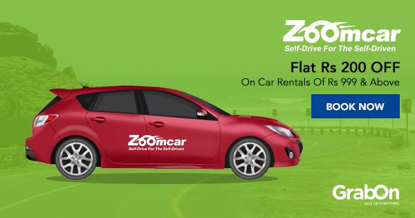 Rent a car, and #commute at your convenience with #ZoomCar.  #drivesafe #roadTrip #Travel #India #coupon