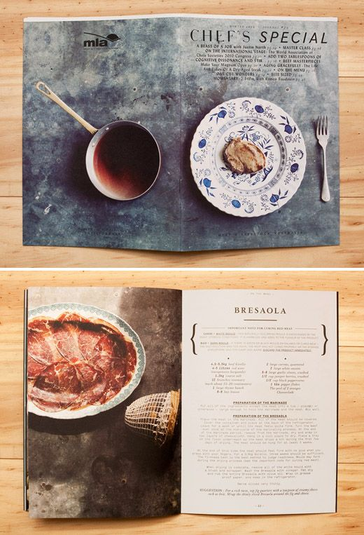 'Chef's Special' – a seasonal print publication from Meat and Livestock Australia, designed by SA-based design studio Mash.  Photography –  John  Laurie, Food Styling - Simon Bajada.