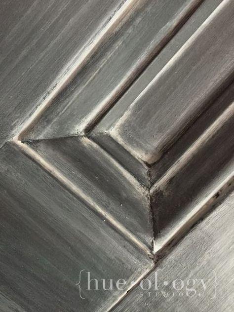 Annie Sloan Chalk Paint | Hueology Studio Magnifique! Graphite + paris gray wash :)