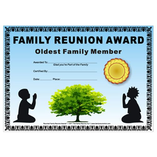 17 best images about printables on pinterest reunions for Free family reunion certificates templates