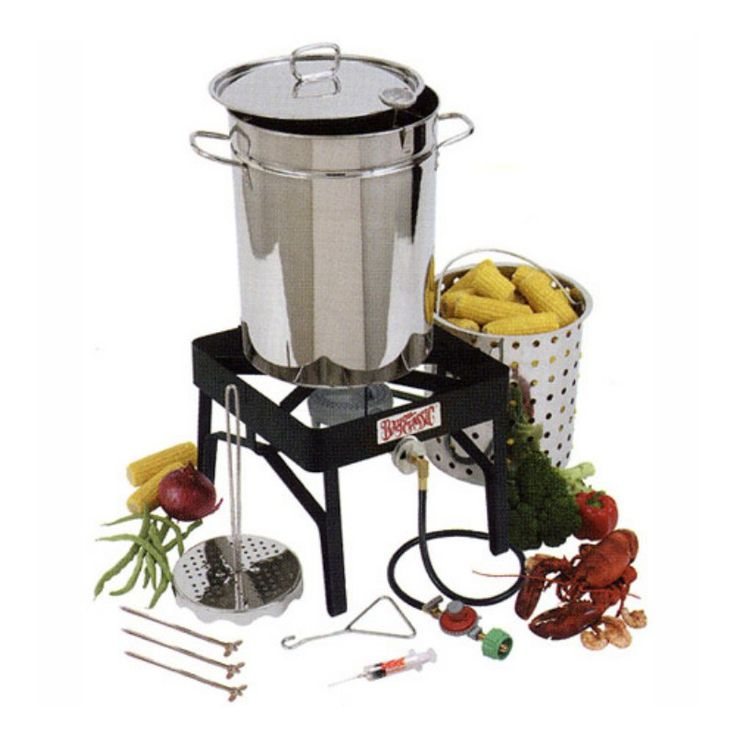 Bayou Classic Stainless Steel Outdoor Turkey Fryer Kit - 32 qt. - BH167