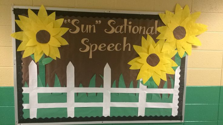 """Sun"" sational speech bulletin board. #sunflowers #autumn #speech"
