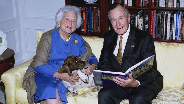 The story of George Herbert Walker Bush and Barbara Pierce is a love story nearing its eighth decade.
