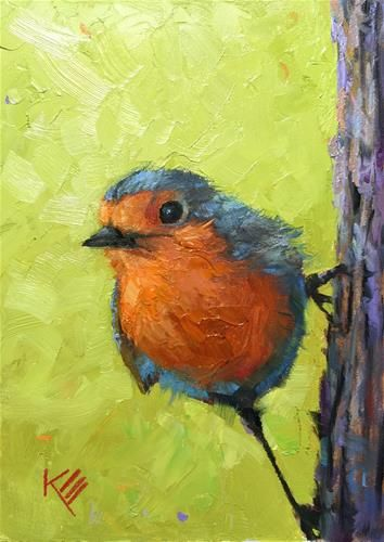 "Daily Paintworks - ""Brave Heart"" - Original Fine Art for Sale - © Krista Eaton"