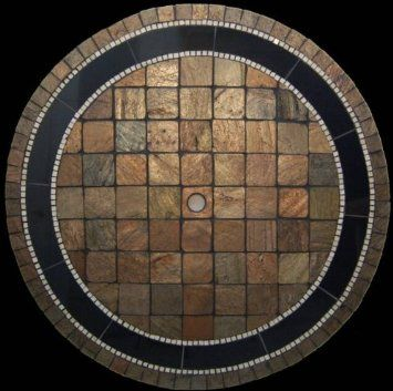 "Amazon.com: Rustical Natural Mosaic Stone Table Top 48"" X 84"" Oval: Home & Kitchen"