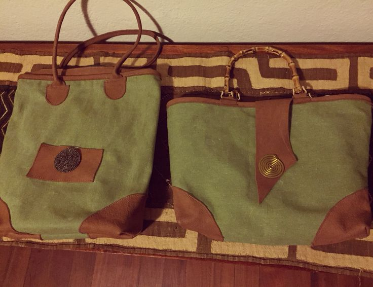 New Safari collection. Waterproof green canvas with leather finishing and Masai accessories. Handmade and unique piece.