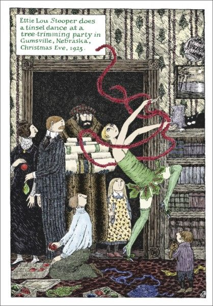 """Tinsel Dance""~Artwork by Edward Gorey"