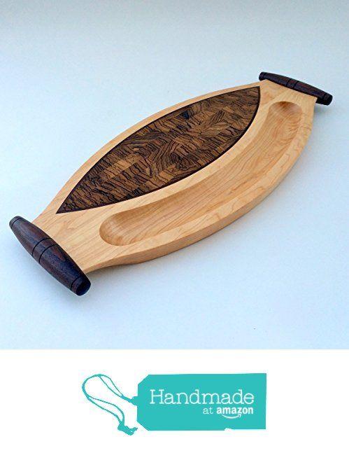 Handmade wooden cheese board, wood serving tray, end grain cutting board from Fine Wine Caddy https://www.amazon.com/dp/B0172EZWCM/ref=hnd_sw_r_pi_dp_quayxb7ZKSR2Q #handmadeatamazon