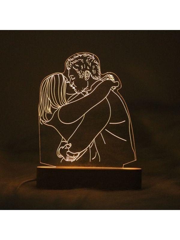 Lámpara De Fotos 3d Personalizada Regalo De Bodas Regalo Romántico Aniversario 20 30 40 Años Regalos Románticos Regalos De Boda Foto 3d