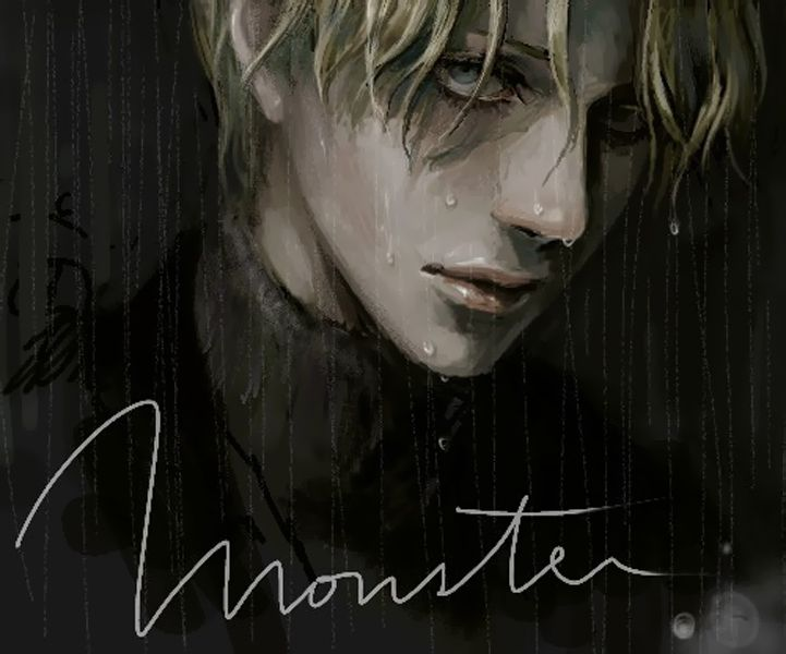 Fan art by Demian: Johan Liebert from Monster (manga by Urasawa Naoki)