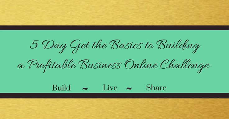 5 Days Get The Basics to Building a Profitable Business Online Challenge  Sign up below to learn easy steps to position your business online and get your first clients. :: You can start the five days at any time but must be done by January 7, 2018. :: As a bonus one person who completes the challenge will receive $25.00 off a 1-hour coaching session and 1-week of unlimited email support.  The winner will be chosen January 3, 2018!