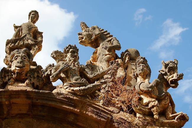 The monsters in the garden of Villa Palagonia.