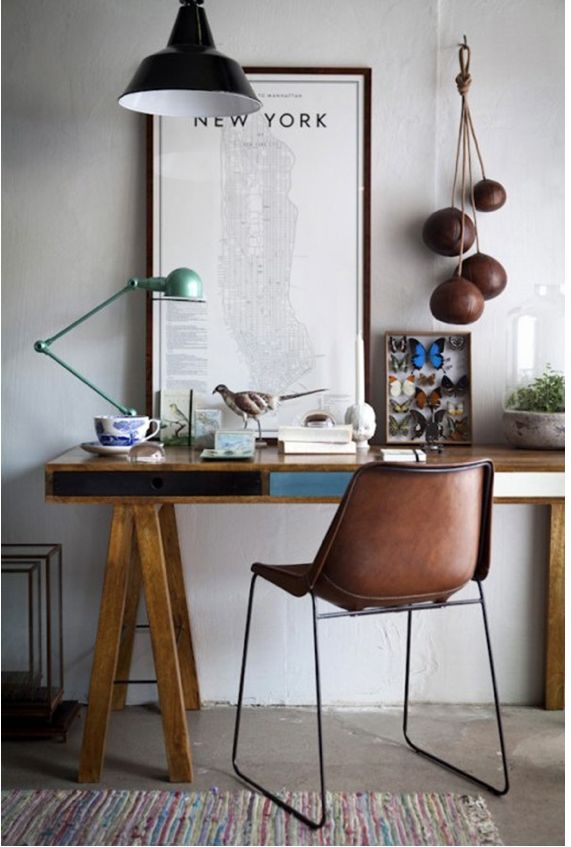 How gorgeous is today's Home Office Inspiration from www.IamtheLab.com today on my blog at http://attention-getting.com #home office #office #small business
