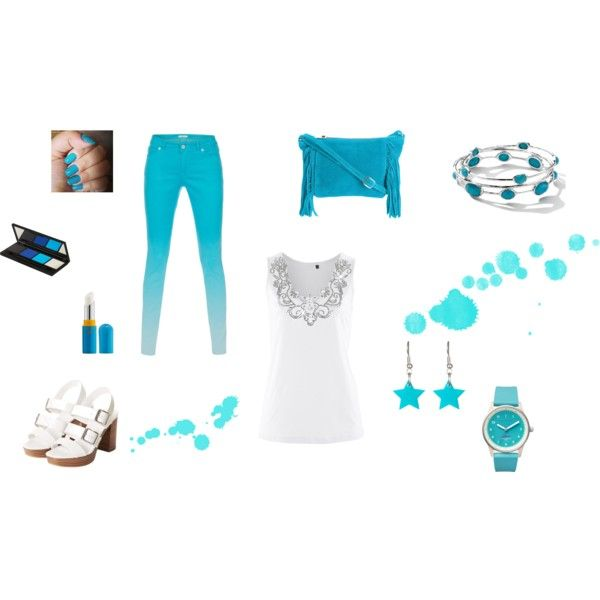 """Light in sea colours"" by balsamoirene on Polyvore"
