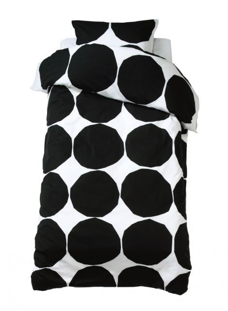 Kivet duvet cover set by Marimekko (black and white)