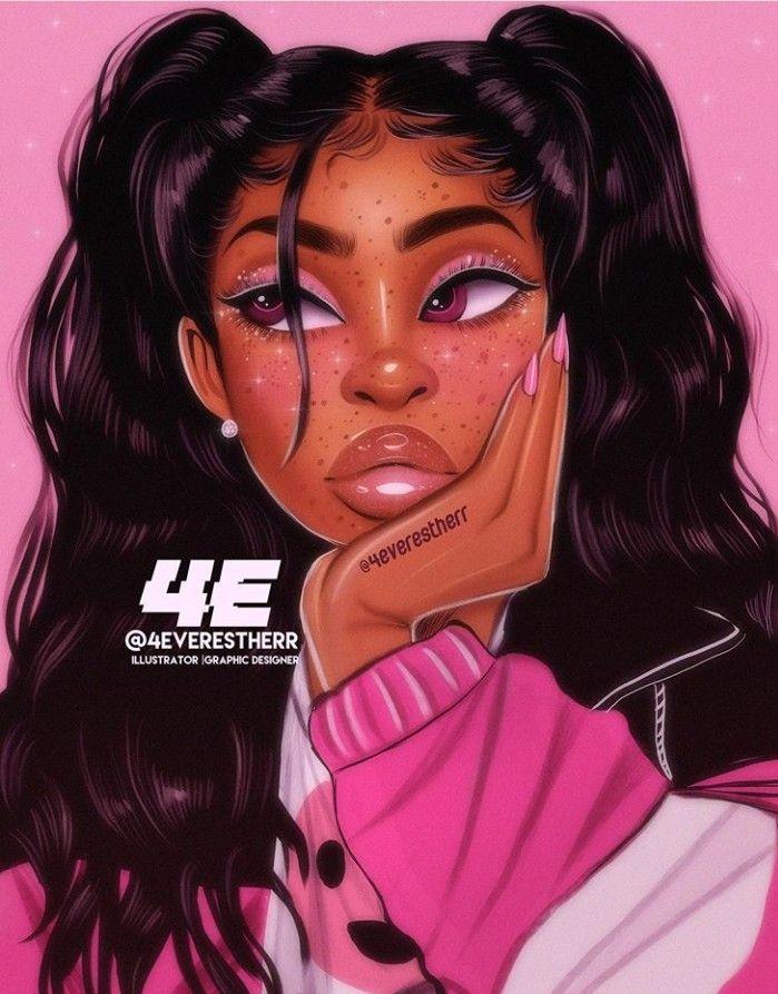Follow afroqueen01 for More Melanin Art. Black girl