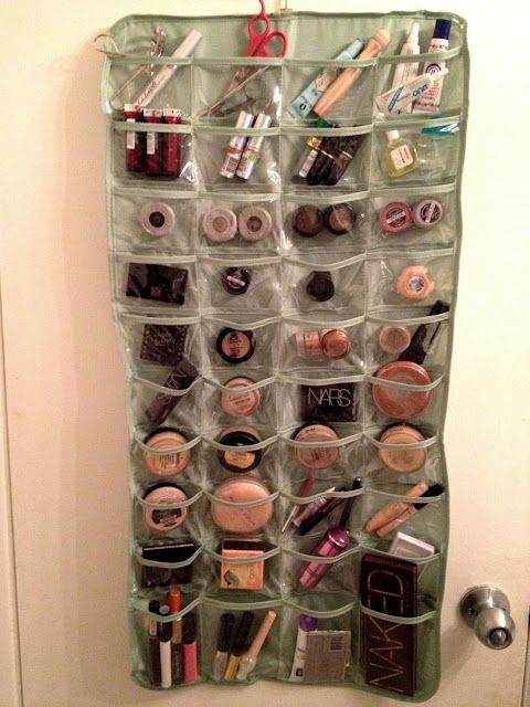 creative makeup storage ideas. Sadly- eventually I will need this much make-up. :)