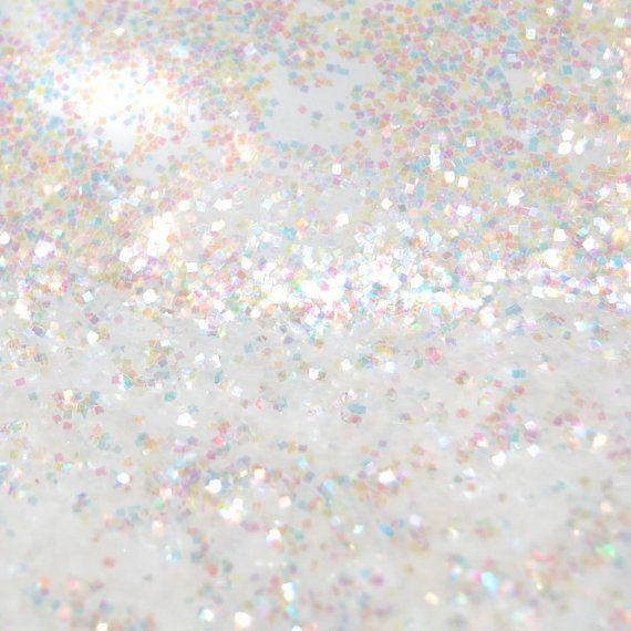 White SOLVENT RESISTANT Holographic Glitter 0.035 SQUARES ...
