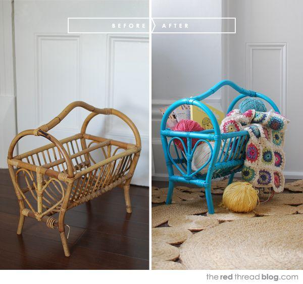Ideas On Upcycling Roadside Furniture Finds. Cane FurniturePainted  FurnitureFurniture IdeasUpcycled VintageRepurposedMagazine RacksBaby ... Photo