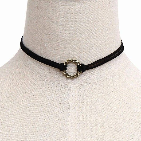 Yoins Rings Double-Layered Choker Necklace (8,03 RON) ❤ liked on Polyvore featuring jewelry, necklaces, accessories, black, layered jewelry, multi layer necklace, choker jewelry, suede necklace and layered necklace