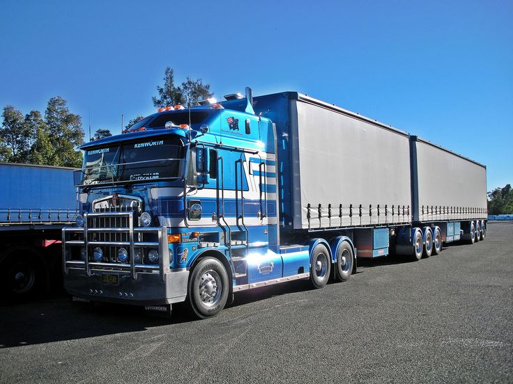 Kenworth K108 Blue with loads #heavyhauling