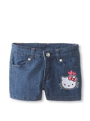 64% OFF Hello Kitty Girl's Denim Shorts (Medium Blue Denim)