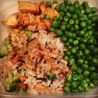 Spatula On Fire: Asian Chicken with Wild Rice and Peas