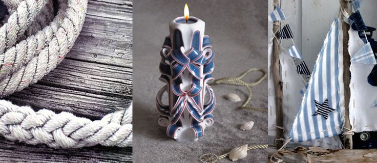 Nomeda Luxury Handmade 'Blue Tower' Carved Candle