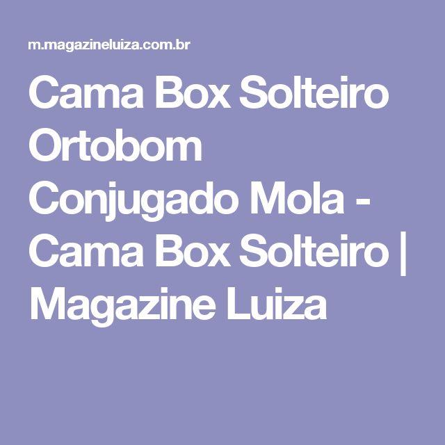 Cama Box Solteiro Ortobom Conjugado Mola - Cama Box Solteiro | Magazine Luiza