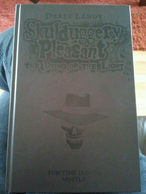 My limited edition black version of book 9 (the last book) in the Skulduggery Pleasant book series.