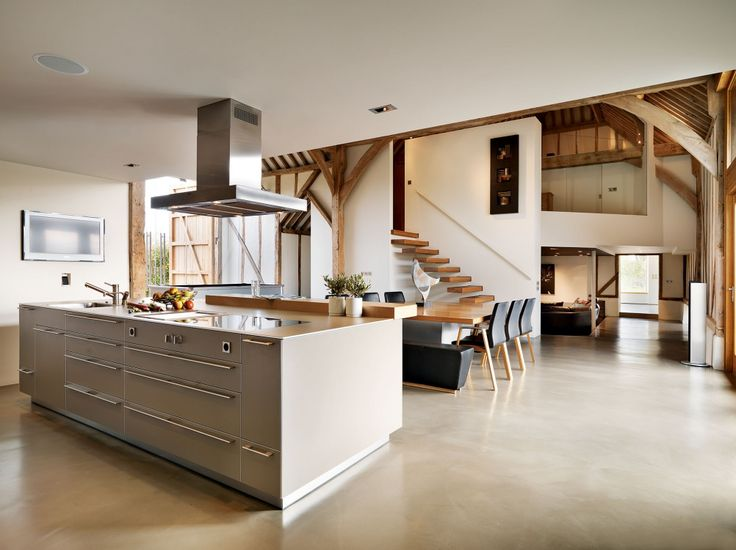 Top 25 best barn conversions ideas on pinterest for Modern barn kitchen