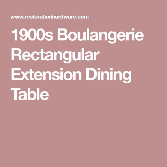 1900s Boulangerie Rectangular Extension Dining Table