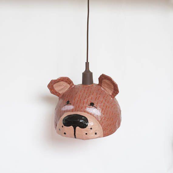 Bear Lamp  Kids Lamp  Bear Nursery Decor  Nursery Lighting