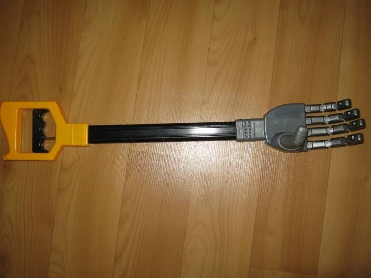 Пластиковый робот коготь стороны граббер игрушка хватая палку малыш мальчик двигаться и захватить вещи Продается на Banggood.com