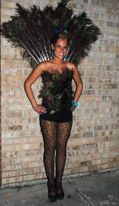 diy peacock costume #halloween