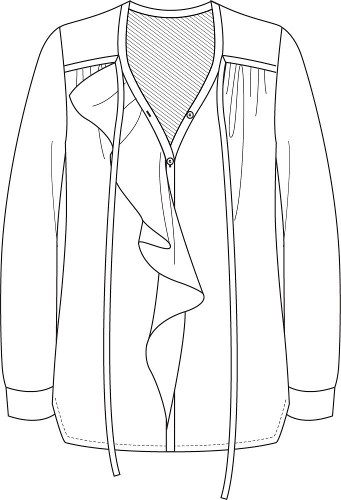 Flat Fashion Sketch Top www.sewingavenue.com