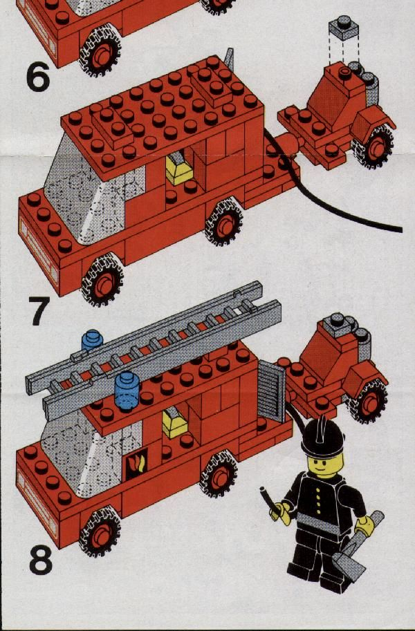 Town - Fire Engine and Trailer [Lego 672]
