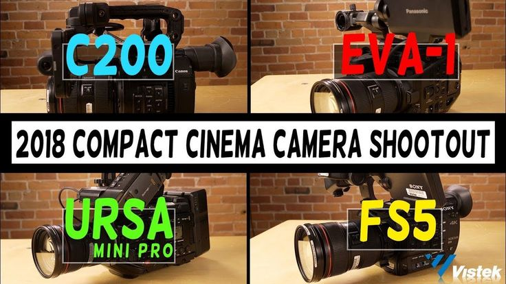 2018 Compact Cinema Camera Shootout: C200 vs EVA-1 vs URSA Mini Pro vs FS5   Four of the most talked about compact cinema cameras on the market are paired head to head in both image quality and usability.  To skip to any chapter topic please click on the relevant time links:  SHARPNESS & DETAIL 1:30  SKIN TONE: 3:03  LOG PICTURE PROFILES: 5:45  LOW LIGHT/HIGH ISO: 11:22  AUTO FOCUS: 15:44  SLOW MOTION: 17:31  HANDLING & STABILITY: 19:10  LCD SCREEN: 22:43  BUTTON & DIAL LAYOUT: 26:55…