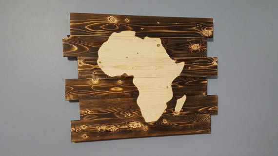Africa Silhouette Africa Wall Art Rustic Wall Hanging