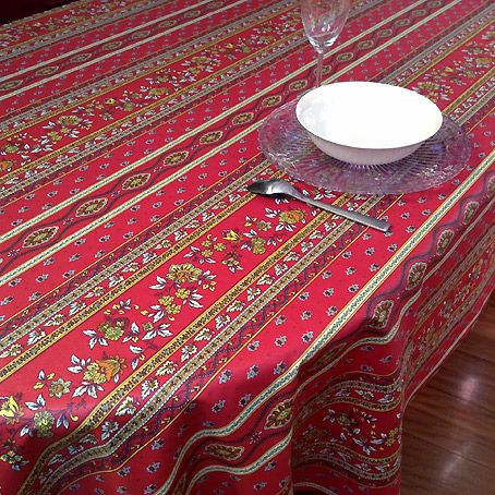 Plastic Coated French Tablecloth With Provencal Design