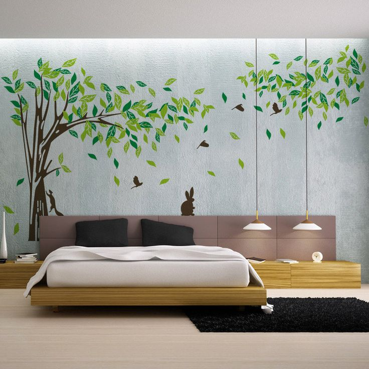 Living Room Wall Decals Bedroom Wall Sticker TV Background Wall Decal Part 8
