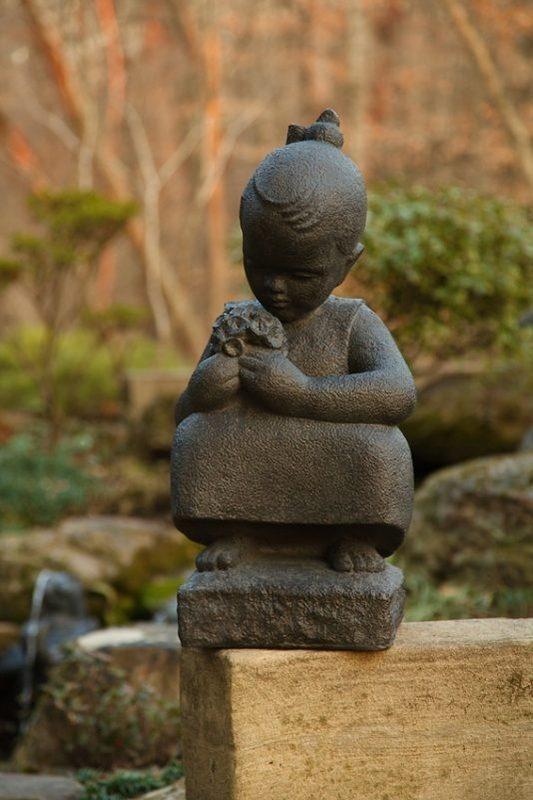 Summer Little Girl Sylvia Shaw Judson Garden Statue