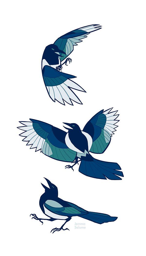 Magpie Art Print by Jemma Salume