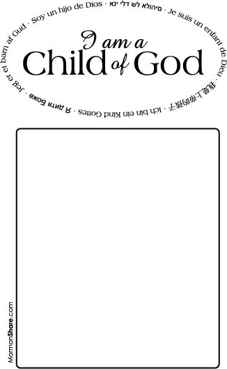 i am a child of god sacrament meeting presentation program covers - A Child God Coloring Page